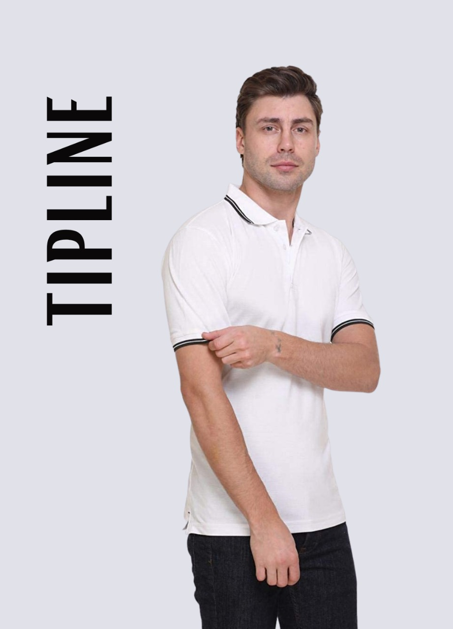tipline with two line collar neck t shirt design multi colour