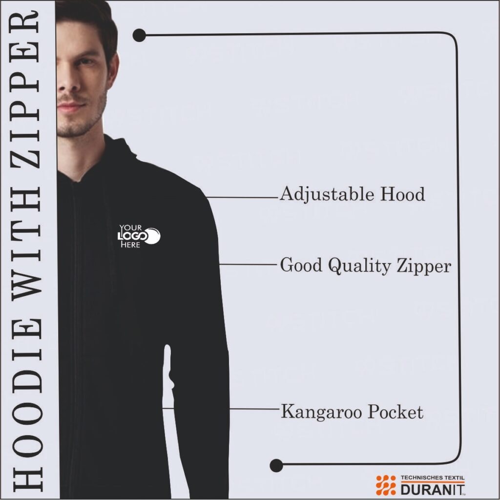 hoodie with zipper cutomised full sleeves multi colour