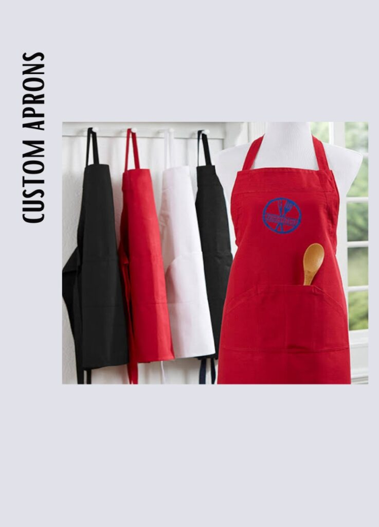 customised apron embroidered multi colour