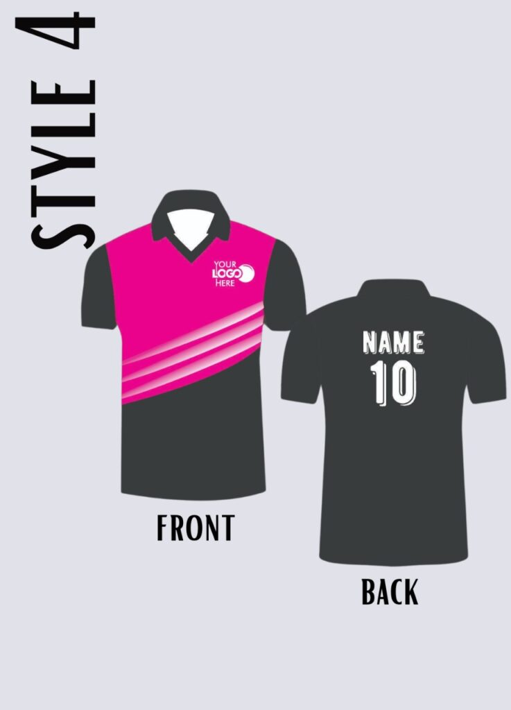 style sports jersey for sportsperson player v neck with lines