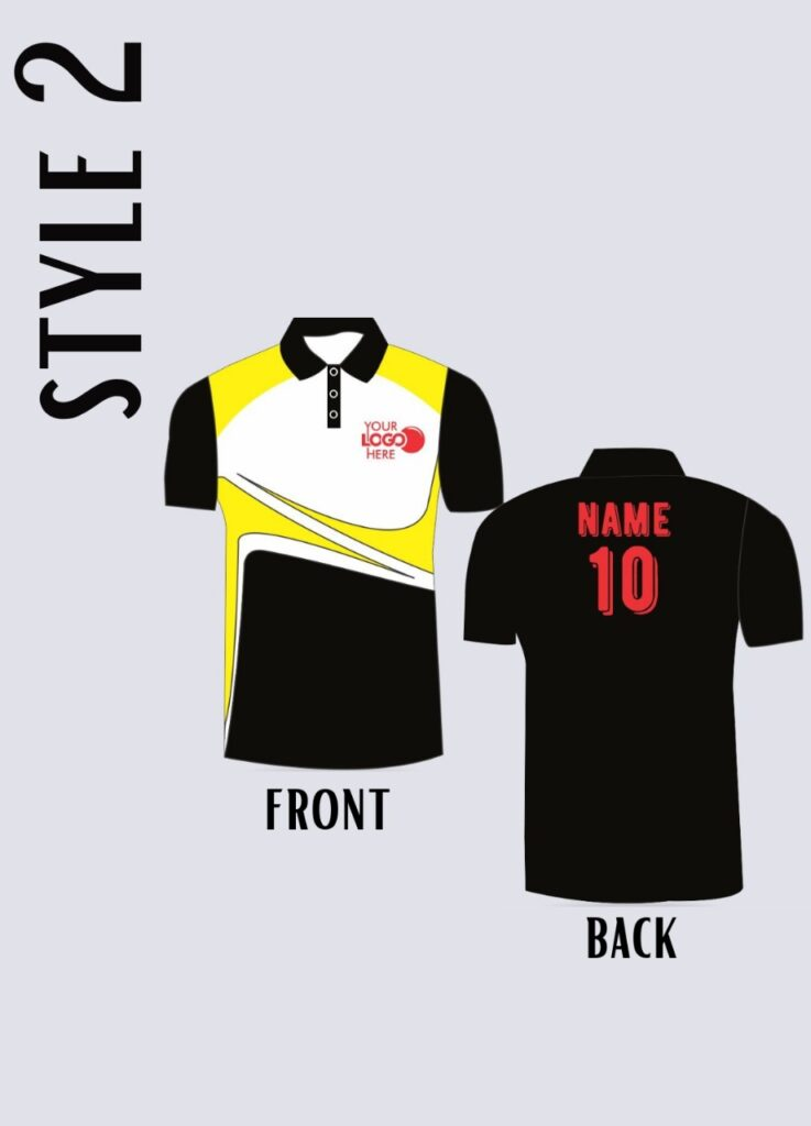 style sports jersey for sportsperson player